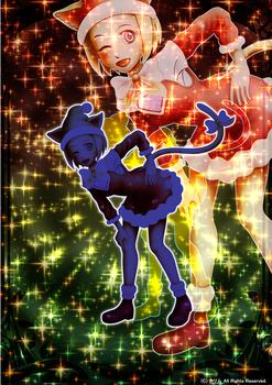 「クリスマス猫さん」08「オリジナルトレカ」03キラキラバージョンTYPE-2