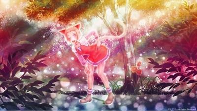 「光の森の猫」02「夕焼けの森」
