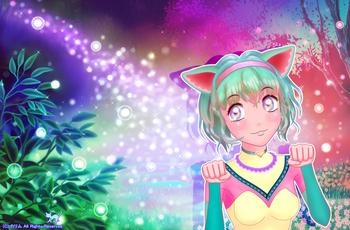 「光の森の猫」07(Ver2.0カラー)