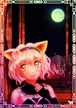 「月夜と白猫さん」01