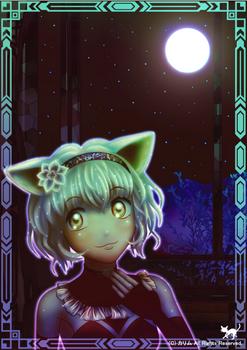 「月夜と白猫さん」02