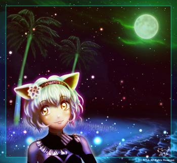 「月夜と白猫さん」03