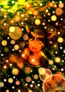 「光輝く中で」「光の森の夜」