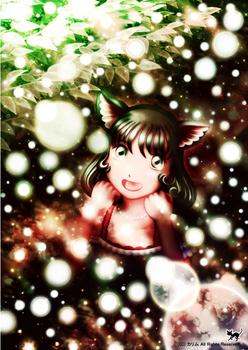 「猫さん」36「光輝く中で」「光の森の夜」TYPE-2