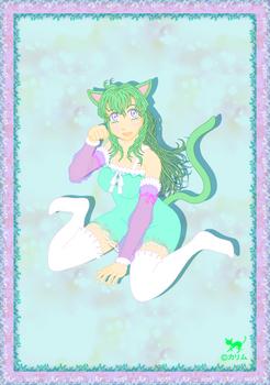 「緑猫さん2014」02(アレンジ)
