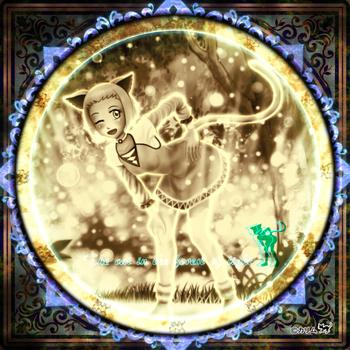 「CDジャケット」12「光の森の猫」01(アンティークアートテクニック).jpg