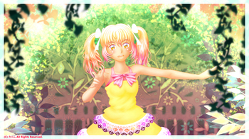 「Project MIKAN」06「華美城みかん」背景合わせ